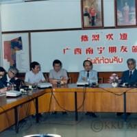 คณะผู้แทนจีนเยี่ยมชม มหาวิทยาลัยขอนแก่น  โดยมี รศ.นพ.สมพร โพธินาม  อธิการบดี   และคณะผู้บริหารให้การต้อนรับ