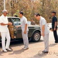 ฯพณฯนายกรัฐมนตรี พลเอกเปรม  ติณสูลานนท์ เยี่ยมชมกิจการของมหาวิทยาลัยขอนแก่น  ในโอกาสเป็นประธานในงานรักเมืองไทยของมูลนิธิรักเมืองไทย ณ จังหวัดขอนแก่น