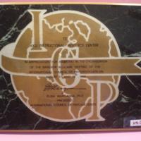 (ใบประกาศ) INTERNATIONAL COUNCIL OF PHYCHOLOGISTS TO KKU INSTRUCTIONAL RESOURCE CENTER